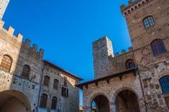 De middeleeuwse stad van San Gimignano royalty-vrije stock afbeelding