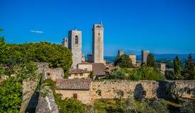 De middeleeuwse stad van San Gimignano royalty-vrije stock afbeeldingen