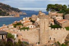 De Middeleeuwse Stad van Tossa de Mar in Spanje Stock Foto's