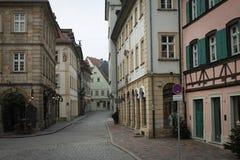 De middeleeuwse Straat van Bamberg stock afbeeldingen