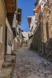 De middeleeuwse straat van Velikotarnovo Stock Afbeeldingen