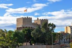 De middeleeuwse toren Royalty-vrije Stock Foto's