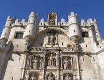 De middeleeuwse vesting van Burgos Stock Afbeelding