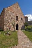 De middeleeuwse vesting van Calnic in Transsylvanië Roemenië Stock Afbeeldingen