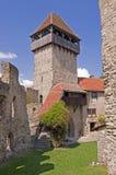 De middeleeuwse vesting van Calnic in Transsylvanië Roemenië Stock Afbeelding