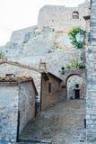 De middeleeuwse vesting van Castiglione D ` Orcia royalty-vrije stock foto's
