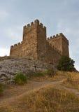 De middeleeuwse vesting van Genoese royalty-vrije stock foto's