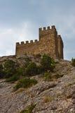 De middeleeuwse vesting van Genoese Stock Afbeeldingen