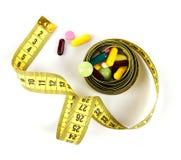 De middelen voor gewicht verliezen stock foto