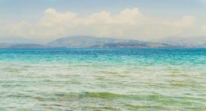 De Middellandse Zee in Korfu royalty-vrije stock afbeeldingen
