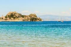 De Middellandse Zee in Korfu stock fotografie