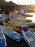 De Middendam van de avondboot Royalty-vrije Stock Fotografie