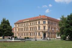 De Middenschool van twee Nobelprijslaureaten royalty-vrije stock fotografie