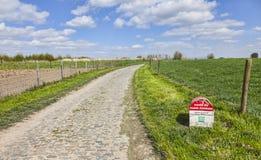 De Mijlpaal van Parijs Roubaix Stock Afbeelding