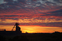 De mijn van Cornwall bij dageraad Stock Foto's