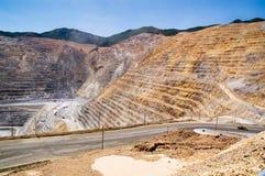 De Mijn van het Koper van Kennecott, Utah stock foto