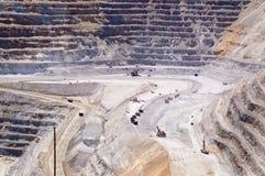 De Mijn van het Koper van Kennecott, Utah stock foto's