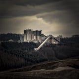 De mijnbouw van de kwartssteen Stock Afbeeldingen