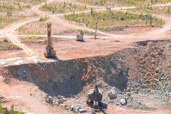 De mijnbouw van de granietsteengroeve royalty-vrije stock foto's