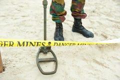 De mijnen van het gevaar Stock Afbeeldingen