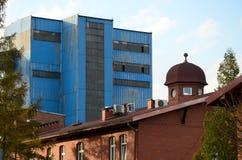 De mijngebouwen Stock Afbeeldingen