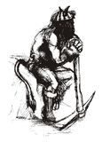 De mijnwerker van de duivel royalty-vrije illustratie