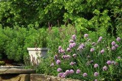 De milieuvriendelijke tuin van het land stock afbeeldingen