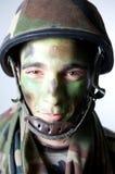 De militair maakt omhoog Royalty-vrije Stock Foto