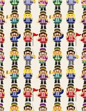 De militair naadloos patroon van het Stuk speelgoed van het beeldverhaal Royalty-vrije Stock Fotografie