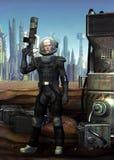 De militair van de astronaut Stock Foto's