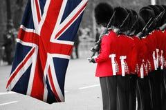 De militair van de koningin bij zich het Verzamelen van de kleur, 2012 Royalty-vrije Stock Foto's
