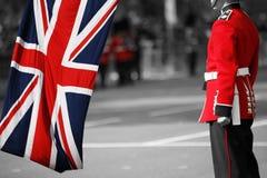 De militair van de koningin bij zich het Verzamelen van de kleur, 2012 Stock Afbeeldingen