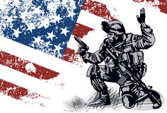 De militair van de V.S. Royalty-vrije Stock Afbeeldingen