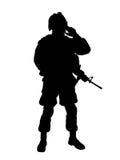 De militair van de V.S. royalty-vrije illustratie