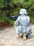 De militair van de V.S. in actie Stock Foto's