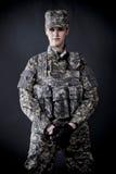 De Militair van de vrouw Royalty-vrije Stock Afbeeldingen