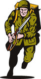 De militair van de Wereldoorlog II het aanvallen Royalty-vrije Stock Foto's