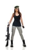 De militair van Gilrl Stock Foto