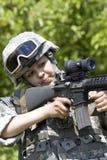 De militair van het meisje Royalty-vrije Stock Afbeeldingen