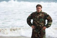 De Militair van het strand royalty-vrije stock afbeeldingen
