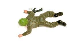 De militair van het stuk speelgoed Stock Foto