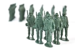 Stuk speelgoed militair stock fotografie