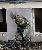 De militair vernietigde bouw Royalty-vrije Stock Foto's