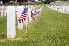 De Militaire Begraafplaats van de V.S., Fort Rosecrants Nationale Cem Stock Afbeelding