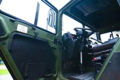 De militaire cabine van de vrachtwagenbestuurder Royalty-vrije Stock Foto