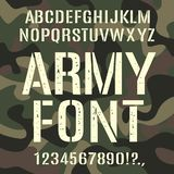 De militaire en legerdoopvont, camoufleert ruw patroon stock illustratie