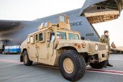 De militaire hulp van de V.S. aan de Oekraïne Stock Foto's