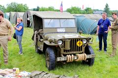 1953 de Militaire Jeep van Willys Royalty-vrije Stock Afbeeldingen