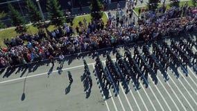 De militaire parade Lucht Foto stock footage