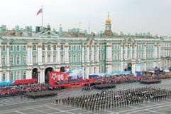 De militaire parade van de Overwinning. Stock Afbeelding